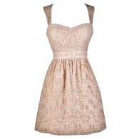 Cute Pink Lace Dress, Pink Lily Boutique Lace Dress, Pink Lace Party Dress