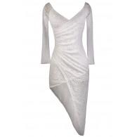 White Lace Party Dress, Cute White Lace Dress, White Lace Cocktail Dress