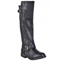 Black Quilted Riding Boots, Cute Black Boots, Fall Boots