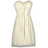 Ivory Chiffon Dress, Rehearsal Dinner Dress, Bridal Shower Dress