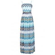 Chevron Maxi Dress, Crochet Lace Maxi Dress, Blue Chevron Maxi Dress, Bohemian Maxi Dress, Festival Maxi Dress, Summer Maxi Dress