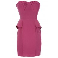 Pink Lady Strapless Peplum Dress