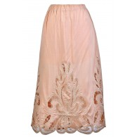 Cute Pink Skirt, Lasercut Midi Skirt, Light Pink Lasercut Skirt, Pale Pink Midi Skirt, Cute Summer Skirt