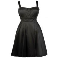 Black Plus Size Dress, Cute Plus Size Dress, Plus Size Party Dress, Plus Size A-Line Dress