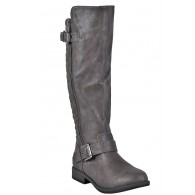 Taupe Riding Boots, Beige Riding Boots, Quilted Riding Boots