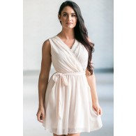 Cream Party Dress, Beige Summer Dress, Cute Online Boutique Dress, Cream Party Dress