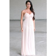 Part of the Bridal Party Chiffon Maxi Dress in Pale Pink