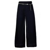 Navy Wide Leg Pants, Cute Navy Pants, Navy Belted Pants, Navy Works Pants, Navy Business Casual Pants