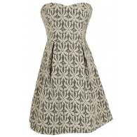 Sand Dollar Summer Dress in Black/Ivory
