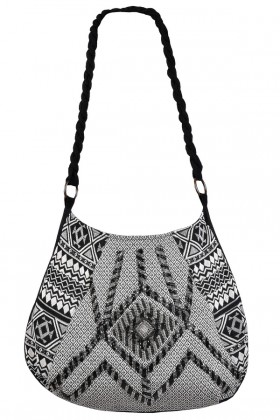 Black Embellished Pattern Purse, Cute Embellished Purse, Beaded Purse