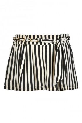 Black and Ivory Stripe Shorts, Cute Summer Shorts, Nautical Stripe Shorts