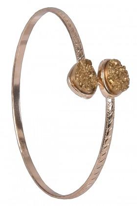 Gold Pyrite Bangle Bracelet, Cute Jewelry, Boho Jewelry