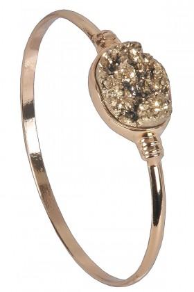 Gold Pyrite Bracelet, Cute Jewelry, Gold Jewelry