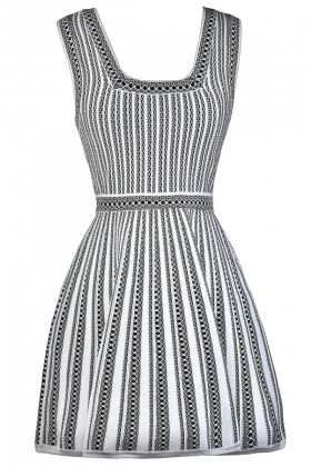 Black and White Stripe Dress, A-Line Dress, Online Boutique Dress