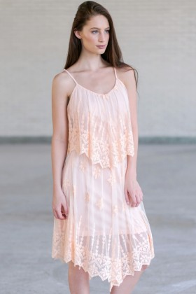 Pink Embroidered Flutter Top Dress, Cute Summer Dress, Boho Dress, Roaring 20s Dress, Great Gatsby Dress