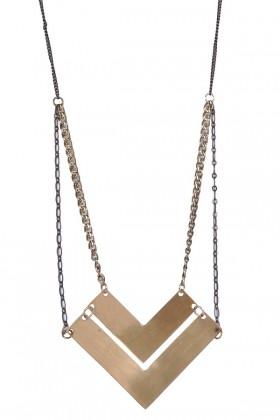Gold Chevron Necklace, Cute Boho Jewelry