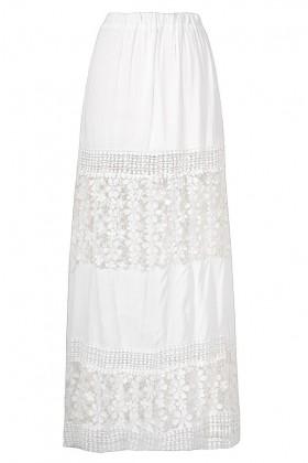 Cute White Maxi Skirt, White Crochet Maxi Skirt, Ivory Prairie Maxi Skirt