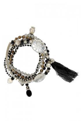 Cute Bracelets, Cute Jewelry, Black and Silver Beaded Bracelets, Black Beaded Bracelets, Cute Bracelet Set, Black and Silver Beaded Bracelet Set