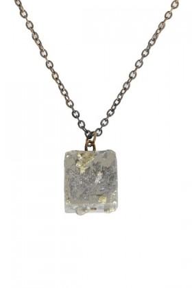 Cute Pyrite Necklace, Cute Pyrite Jewelry, Pyrite Mineral Necklace, Pyrite Charm Necklace