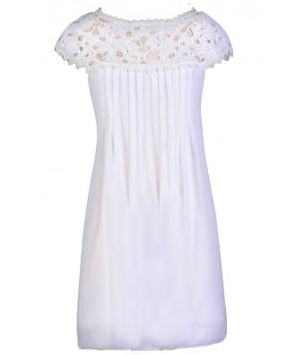 Off White Flowy Dress, Cute Summer Dress, Off White Lace Dress, Cute Rehearsal Dinner Dress, Cute Bridal Shower Dress, Off White Party Dress
