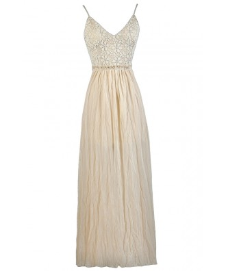 Beige Maxi Dress, Open Back Maxi Dress, Cute Summer Dress, Summer Maxi Dress, Cute Beige Dress, Bohemian Maxi Dress