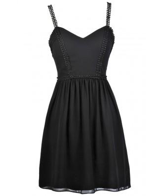 Black Party Dress, Little Black Dress, Black Crochet Dress, Black A-Line Dress, Black Summer Dress, Black Cocktail Dress