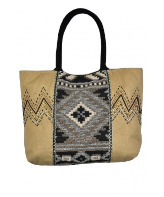 Southwestern Pattern Bag, Southwestern Tote Bag, Cute Summer Purse, Summer Tote Bag, Southwestern Embroidered Handbag, Carry On Tote Bag