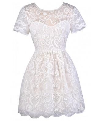 White Embroidered Dress, Cute White Dress, White Capsleeve A-Line Dress, White Rehearsal Dinner Dress, White Bridal Shower Dress, White Party Dress, White A-Line Dress, White Capsleeve Embroidered Dress, White Summer Dress, Cute Summer Dress