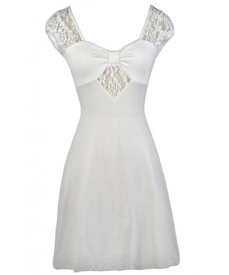 Off White Lace Dress, Cute Off White Dress, Off White Summer Dress, Off White Sundress, Cute Summer Dress, Cute Sundress, Off White Party Dress