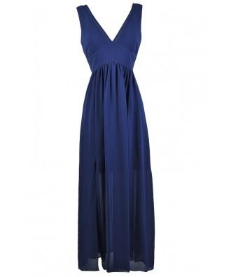 Bright Blue Maxi Dress, Royal Blue Maxi Dress, Cute Blue Dress, Blue Summer Maxi Dress