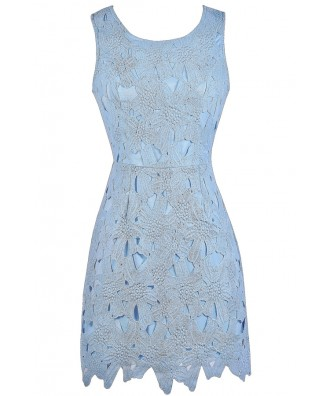 Sky Blue Lace Dress, Pale Blue Lace Dress, Light Blue Lace Dress, Sky Blue Party Dress, Pale Blue Lace Bridesmaid Dress, Sky Blue Lace Bridesmaid Dress