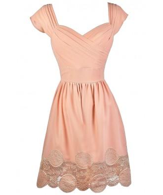 Blush Pink Dress, Blush Pink Bridesmaid Dress, Blush Pink Summer Dress, Cute Pink Dress