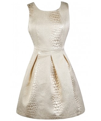 Metallic Party Dress, Cute Cocktail Dress, Cute New Years Dress, Cute Holiday Dress, Silver and Gold Party Dress