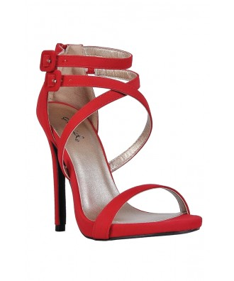 Cute Red Heels, Red Stiletto Heels, Red Dress Heels, Red Strappy Heels