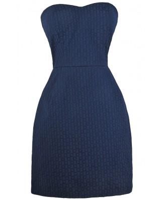 Cute Navy Dress, Navy Strapless Dress, Navy Party Dress, Navy Summer Dress