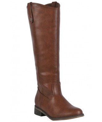 Cognac Riding Boots, Cute Fall Boots, Tan Riding Boots, Cute Brown Boots