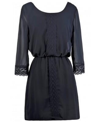 Cute Navy Dress, Cute Fall Dress, Navy Casual Dress, Navy Boho Dress, Cute Summer Dress