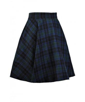 boutique green and blue plaid skirt tartan plaid