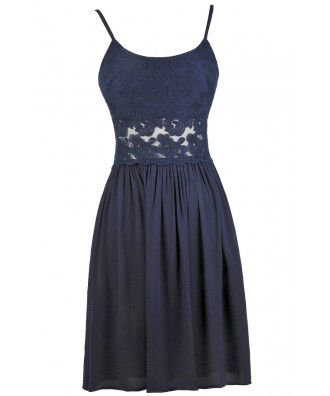 Cute Blue Dress, Blue Lace Dress, Cute Sundress, Cute Summer Dress, Blue Party Dress