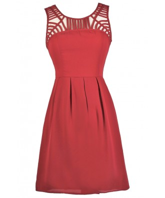 Cute Red Dress, Red Party Dress, Red Summer Dress, Red Sundress