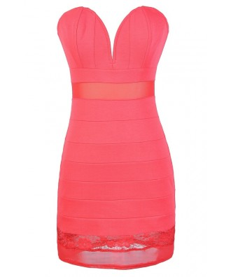 Pink Bodycon Dress, Cute Pink Strapless Dress, Pink Bodycon Bandage Dress, Cute Pink Club Dress, Ark and Co Pink Bandage Dress, Ark and Co Pink Dress, Ark and Co Pink Bodycon Dress