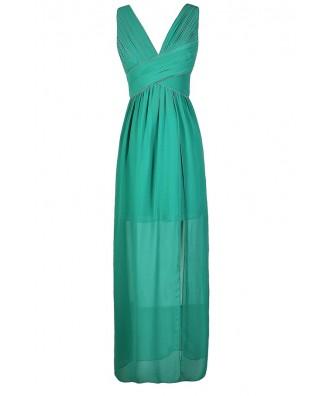 Teal Maxi Dress, Cute Teal Dress, Minuet Dress, Teal Minuet Dress, Slit Side Teal Dress, Slit Side Teal Maxi Dress, Teal Maxi Prom Dress