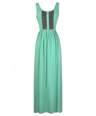 Aqua Maxi Dress, Green Maxi Dress, Mint Maxi Dress, Lace Maxi Dress, Crochet Lace Maxi Dress, Cute Maxi Dress