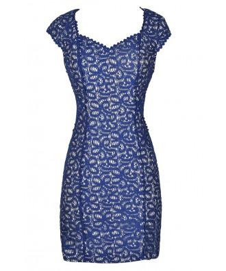 Blue Lace Dress, Blue Lace Pencil Dress, Royal Blue Lace Dress, Bright Blue Lace Dress, Royal Blue Lace Pencil Dress, Blue Lace Dress, Cute Blue Dress, Blue Lace Party Dress