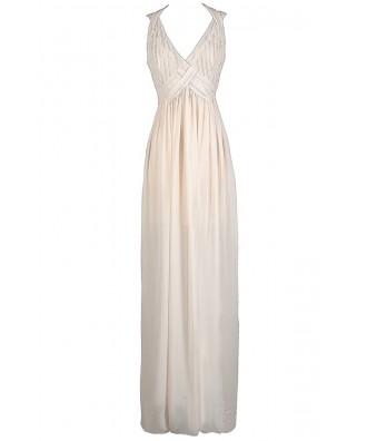 Ivory Maxi Dress, Beige Maxi Dress, Off White maxi Dress, Off White Prom Dress, Ivory Prom Dress, Beige Prom Dress, Ivory Floor Length Dress, Off White Floor Length Dress