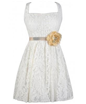 Ivory Lace Dress, Off White Lace Dress, Ivory A-Line Lace Dress, Ivory Lace Summer Dress, Ivory Lace Rehearsal Dinner Dress, Ivory Lace Bridal Shower Dress, Cute Rehearsal Dinner Dress, Cute Bridal Shower Dress, Ivory Lace Sundress