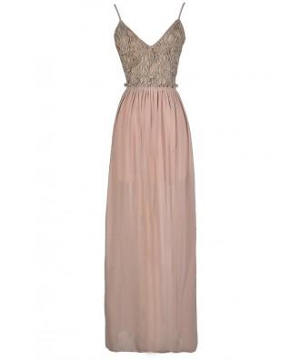 Open Back Maxi Dress, Beige Open Back Maxi Dress, Beige Embellished Maxi Dress, Beige Beaded Maxi Dress, Open Back Prom Dress, Cute Beige Dress, Beaded Beige Dress