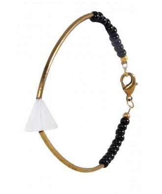 Cute Bracelet, Gold and Black Bracelet, Cute Jewelry, Tribal Bracelet, Tribal Jewelry, Black Gold and Ivory Bracelet
