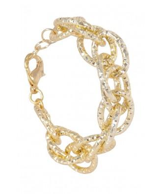 Cute Gold Bracelet, Gold Chain Link Bracelet, Gold Chain Jewelry