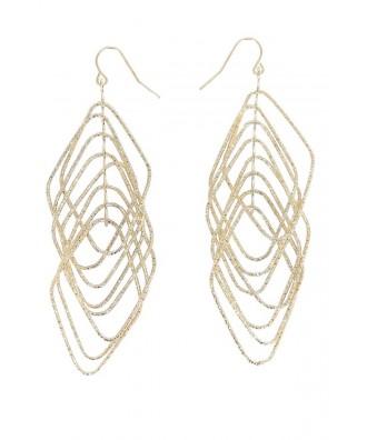 Cute Gold Earrings, Gold Dangle Earrings, Cute Gold Jewelry